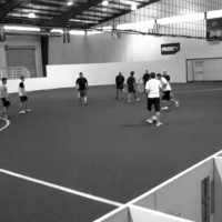 The Indoor Soccer League provides athletic activities for students of all skill levels.  Photo credit: Emily Bratcher