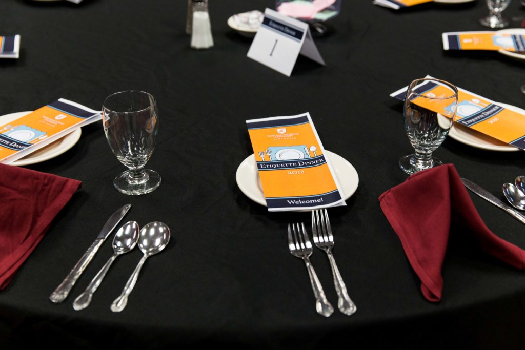 A behind-the-scenes look at the WSU Vancouver Etiquette Dinner